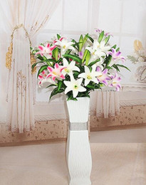 Wholesale Latex Calla Lilies Wholesale - 97cm PU Latex Calla Lily flower real touch wedding bouquet flowers for wedding home table decorations free shipping