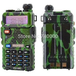Wholesale Dual Band Portable - New Version Baofeng Portable Radio Walkie Talkie UV-5R Dual Band CB Radio Transceiver 136-174MHz&400-520MHz A0850A with Headset