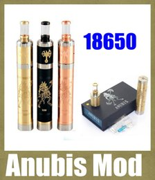 Wholesale E Cigarette Copper - e cigarette mod mechanical mod kit anubis mod with anubis vaporizer black brass copper mod fit 18650 VS 30w box mod cloupor mini TZ225