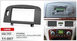 Wholesale Car Wheel Airbag - CARAV 11-067 top quality car radio stereo face facia surround trim frame for HYUNDAI Sonata Sonica(wo airbag signal left wheel)