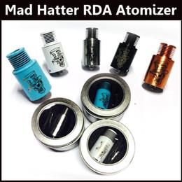 Wholesale E Cigarette V5 - Mad Hatter RDA Atomizer DIY Vaporizer atomizer Fold Drip Tips RDA E Cigarette Atomizer vs Troll RDA Mutation X V2 V3 V4 V5 Freakshow RDA