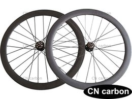 Wholesale Carbon Road Disc - 50mm Clincher Tubular Disc brake cyclocross carbon road bike wheels 20.5mm,23mm,25mm rim width Novatec D771SB D772SB 3 in 1 hub