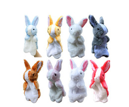 Wholesale Cloth Toys For Kids Rabbits - The new children's plush toy hand puppet doll cute doll plush doll dolls hand puppet toy small rabbit 9 hand puppets for children