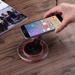 Wholesale pc chargers - 1 pcs Universal Qi Wireless Charger Charging Pad Mobile Phone Adapter Dock Station Wireless Charger for iPhone X 8 Plus Samsung S8