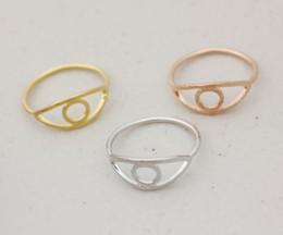 Wholesale Rhinestone Evil Eye - 10PCS- R021 Dainty Simple Cute Evil Eye Ring Outline Fatima Hamsa Eye Ring Cartoon Jewelry Evile Eye Rings for Women