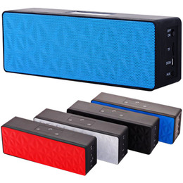 Wholesale mini touch computer - N16 Bluetooth Speaker Wireless Dual Trumpets Touch Panel Control Support TF Card Portable Stereo Subwoofer HIFI Music Player DHL Free MIS082