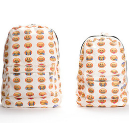 Nouveau Emoji Sac À Dos Toile 3D Emoji Impression Sacs À Dos Mignon Hommes Sacs À Dos D'origine Design Femmes Sac À Dos Freeship ? partir de fabricateur