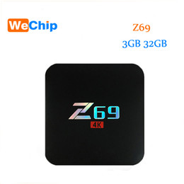 Wholesale Network Tv Box - Z69 android 7.1 tv box Network 2.4G Wifi 10 100M Ethernet S905X android box 4K 3GB 32GB HD Media Player