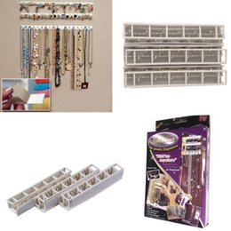 Wholesale Earring Display Hook Racks - Wholesale-Adhesive Jewelry earring necklace hanger holder Organizer packaging Display jewelry rack sticky hooks Wall Mount stand tray para