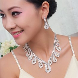 Wholesale Silver Necklace Designs Price - Discount Fashion Jewelry Noble and Elegant Silver Color Unique Design Competitive Price Wedding Necklace and Earring Set 026