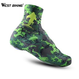 Wholesale Dust Cover Bike - Wholesale-Cheji Brand Camouflage Green Shoe Cover Winter Mountain Bike Riding Anti-Dust Overshoes Shoe Lock Riding Equipment Shoe Cover