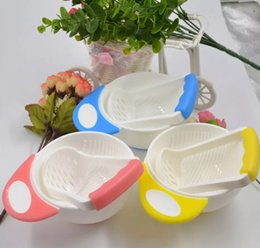 Wholesale Vegetables Baby - Manual Baby Food Grinding Bowl Supplement Fruits and Vegetables Masher Bowl Baby food grinder Child Holding Fine Grinding Rod