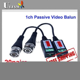 Wholesale Audio Power Protection - 1CH Video + 1CH Power + 1CH Audio 10pairs=20pcs Passive Video Balun suppression protection for CCTV & DVR
