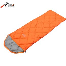 Wholesale High Quality Down Sleeping Bag - Wholesale-2016 NEW High quality down sleeping quarters outdoor ultralight ultra small size single adult sleeping bag office lunch break