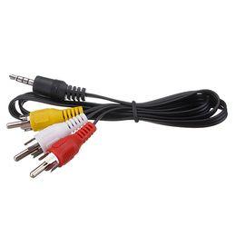 усилитель Скидка 3.5 мм штекер для 3 RCA адаптер кабель аудио конвертер для ПК усилитель плеер заказать$18no трек