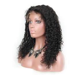 Wholesale Tangle Free Lace Wigs - Best human hair wigs deep curl full lace human hair wigs for black women curly Peruvian lace front wigs no tangle free shipping