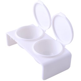 Strumento di punte UV del gel della polvere del liquido acrilico di Manicure del chiodo di arte del doppio bianco all'ingrosso di arte del chiodo cheap acrylic dishes wholesale da piatti acrilici all'ingrosso fornitori
