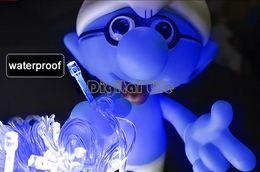 Wholesale Cheap Lamp Plugs - Wholesale-4Pcs lot Cheap Blue 20M 200 LED String Lights Decorative Christmas Party Festival Twinkle Lamp Bulb With Tail Plug US 50