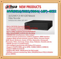 Wholesale Dahua Network Video Recorder - DAHUA 16 32 64CH 2U 4K H.265 Network Video Recorder With 16POE Without Logo NVR5816-16P-4KS2 NVR5832-16P-4KS2 NVR5864-16P-4KS2