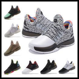 Wholesale Clear Plastic Buttons - 2018 Harden 1 BHM shoes Wholesale prices free shipping Top Quality James Harden MVP Basketball shoes Hot sales US7-US11.5
