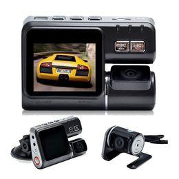 "Wholesale Car Timing Light - 10pcs Dual Lens Car DVR Camera I1000 Full HD 1080P 2.0""LCD Dash Cam+8 IR LED Light Night Vision H.264 Rotatable Lens Video Recorder"