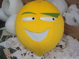 Wholesale Lemon Fancy Dress - Adult Size Cute Yellow Lemon Mascot Costume Furit Lemon Costume Christmas Birthday Party Fancy Dress Free Shipping