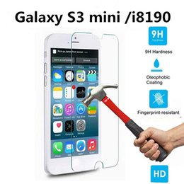 Wholesale Galaxy S4mini - For Samsung Galaxy Tempered Glass Film For S3mini S4mini S5mini Mega 5.8 6.3 Core2 G355H Trend3 G350 Win Pro G3812 Galaxy Avant Alpha G850F