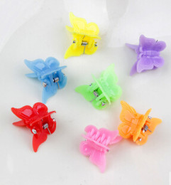 Wholesale Hair Claw Clip Styles - Free Shipping Candy Colors Mini Cute Girl Kids Ponytail Hair Tie Clips Grips Beads Style Accessories TY1419