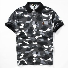 Wholesale Mens Camouflage Shirt Xl - Tshirts For Mens Men Tide Brand Camouflage T Pity Short Sleeve Fall Tiger T-shirt For Wholesale Polo Shirts Short Sleeve Tops Letter Print