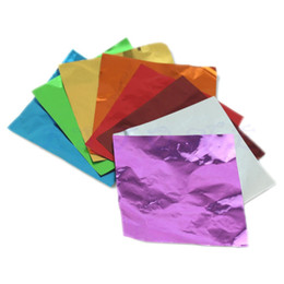 Wholesale Tracking Paper Wholesale - Free shipping 100pcs Square Sweets Candy Package Foil Paper Chocolate Lolly Foil Wrappers order<$18no track