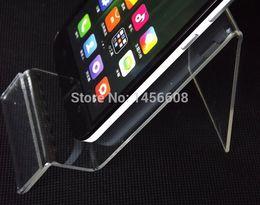 acryl zähler display steht Rabatt Acryl-Handy-Stand-Halter-Handy-Display-Stand Counter-Display-Rack-Regal für 5 Zoll iphone Samsung HTC MP3 / 4/5 frei DHL