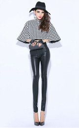 Wholesale Tight Edition - Han edition authentic women winter in Europe and the new show thin warm feet tall waist zipper stretch tight leather pants. S -XL