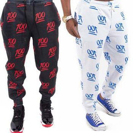 Wholesale Ch Sports - 2015 New 3D Print 100 Hundred points Emoji Joggers Casual Mens joggers Sports Sweatpants Cartoon Jogger Pants Trousers CH-3044