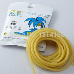Wholesale Slingshot Replacement Bands - latex angel Wholesale - Length 10 Meters Rubber Latex Tube 44mm Diameter ELASTICA Bungee Slingshot Catapult Outdoor Hunting Replacement 1644