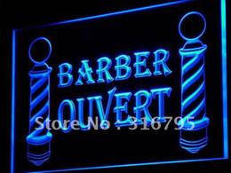 Wholesale Ouvert Led - Wholesale-j176-b OUVERT Barber Poles OPEN Shop LED Neon Light Sign Wholeselling Dropshipper