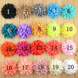 """Wholesale Eyelet Laced Chiffon - 300pcs lot 2016 New 3"""" Lace Eyelet Flower kids hair accessories Fabric Chiffon Flowers for headbands Free Shipping"""