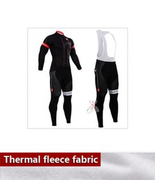 Wholesale Cycling Trousers Winter - 2015 Winter Thermal Fleece Men cycling jersey Long sleeve Bib pants bike Trousers ropa ciclismo maillot cycling clothing can customize