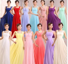 Wholesale Woman Backless Summer Girl - 2016 Cheap bridesmaid dresses long chiffon bridesmaids dresses for wedding party plus size prom evening dresses under 50 for women girls
