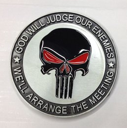 Wholesale Fashion Meetings - The Punisher belt buckle, God will judge our enemies , we will arrange the meeting