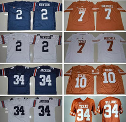 Wholesale Campbell S - Men Youth 34 Bo Jackson Tigers 7 Shane Buechele Earl Campbell Vince Young Ricky Williams Longhorns Auburn College football jerseys