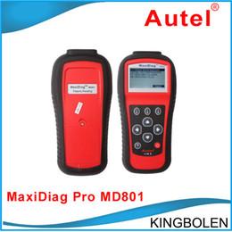 Wholesale Fedex Pro - DHL Fedex Free Shipping Autel MD801 Pro MaxiDiag PRO MD 801 4 in 1 code scanner(JP701 + EU702 + US703 + FR704) OBDII OBD2