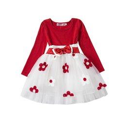 Wholesale Long Sleeve Baby Tutu Birthday - Wholesale- Winter enfant Baby Girl Dress Casual Long Sleeve Tutu dresses for Newborn Infant Princess 1 year Birthday Girls kids Clothes