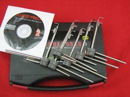 Strumenti di serratura sicura online-6Pcs Flagpole migliorato con Pin Locksmith Lock Picks Set di strumenti Flagpole lock (Diebold, tiger safe) pick lock tools, lockpick