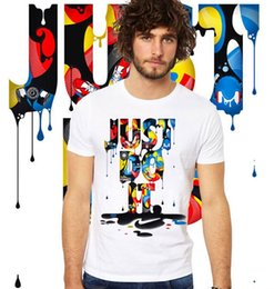 Wholesale b sleeve - JUST DO IT Printed Men Tshirts Summer Clothes White with Designer Modal Short Sleeved Tees Fashion Tees Shirts Clothing camisa masculina b