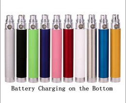 Wholesale E Cigarette Passthrough Battery - EGO Passthrough Battery 650mah 900mah 1100mah Electronic Cigarette Bottom Charger Batteries with USB Charger Cable 510 thread for all E Cig