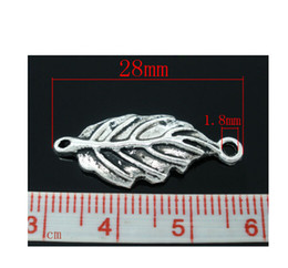 Wholesale Infinity Top - New arrival top sale Zinc metal alloy The ancient silver leaf skeleton Pendant 28x12mm infinity accessories fit for necklace