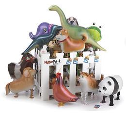 Mascotas globos online-Modelos híbridos de globos de animales globo de papel de aluminio caminando globos de mascotas Walking Animal Balloon Juguetes de fiesta juguetes de niños