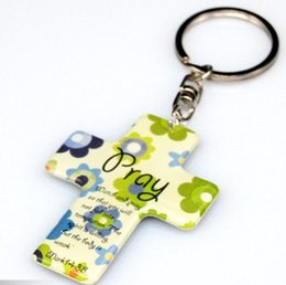 Wholesale Plastic Jesus - 100 pcs Key Chain christian souvenir gift cross key ring christian products wholesale Jesus Keychain