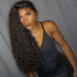 Wholesale Malaysian Lace Wigs 26 Inches - Curly Weave Full Lace Wigs With Baby Hair Adjustable 10-26 Inch Brazilian Indian Peruvian Malaysian Mongolian Lace Front Hair Wigs .