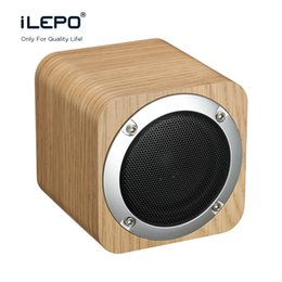 Wholesale Wooden Usb Wholesale - iLEPO i7 Wooden Bluetooth Speaker Original Sound Subwoofer Wireless Speakers Stereo Music Box Support TF Card FM Raido VS Charge 2 Xtreme